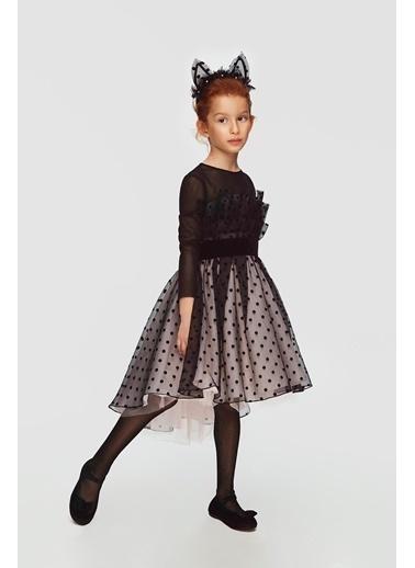Lia Lea Kız Çocuk Siyah Elbise 20Fwll01743 Siyah